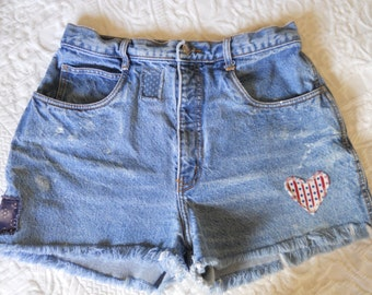Paint and Patches Upcycled VintageCut Offs / Size 12P