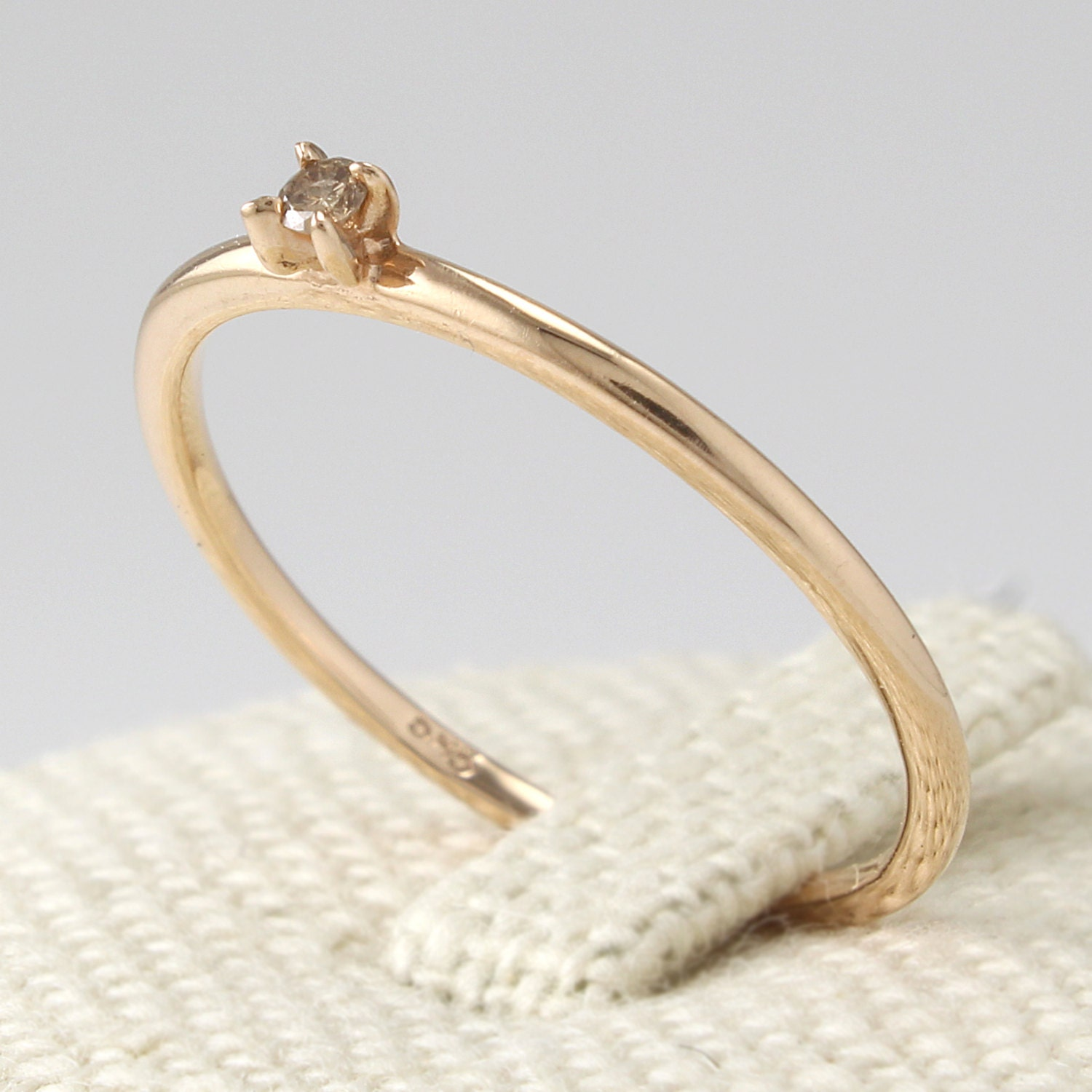 thin ring engagement ring simple ring