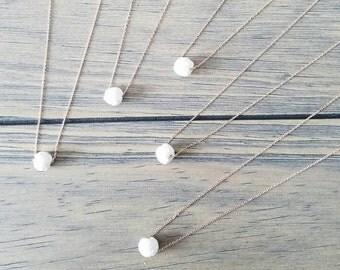 White Lava + Rose Gold Oil Diffuser Necklace