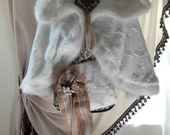 Winter Bridal Cape Hood & Muff