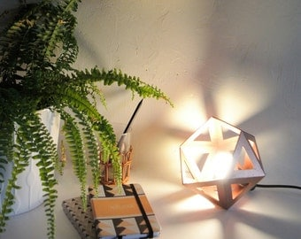 Small lamp Origami copper