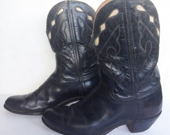 1940s Black Kirdendall Cowboy Boots