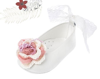 Crib girl shoes Leather baby shoes Baby girl shoes Handmade shoes Baby wedding shoes Baby baptism white shoes size 1 2 3 4 US EU 17066005A