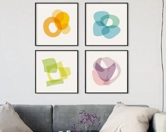 Art Prints, Printable Art Set Of 4 Prints, digital downloads of prints, print set of four, minimal abstract, modern art set of printable art