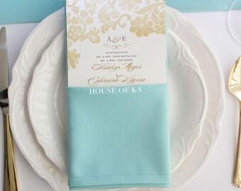 Aqua Spa Napkin 20 x 20 inches | Wholesale Cloth Napkins, Wedding Table Decor