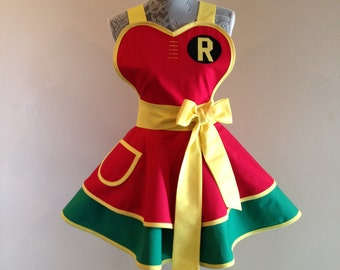 Robin - Boy Wonder - Batman - Cosplay Apron - Retro Apron