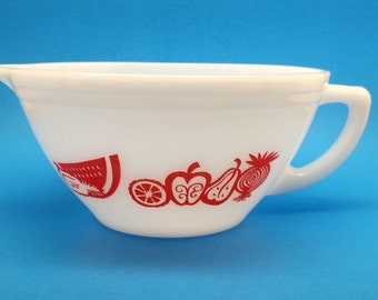 Super Rare Federal Batter Bowl, Red Fruits Design
