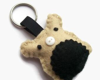 Hamster Keychain, Gifts for Animal Lovers, Felt Hamster Keyring, Cute Felt Animals