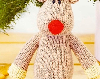 Reindeer, Baby Christmas Toy Knitting Pattern Instant download PDF, Baby Seasonal Christmas Decoration Knitting Pattern PDF - 8