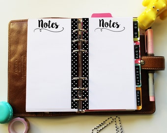 PERSONAL Notes dots - cute printable planner inserts for filofax, kikki.K, organizer, life planner... INSTANT DOWNLOAD