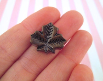 Chocolate  Maple Leaf Candy Cabochons, Cute Kawaii Decoden Cabs, #120a