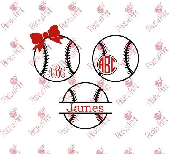 Baseball Svg Cut Files Baseball Monogram Frame Svg By