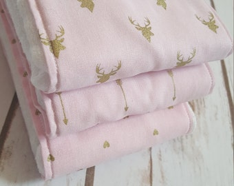 Boho, Burp Cloths, Deer Burp Cloths, Arrow Burp Cloths, Heart Burp Cloths, Pink Burp Cloths, Girl Burp Cloths, LIMITED STOCK Order Now!