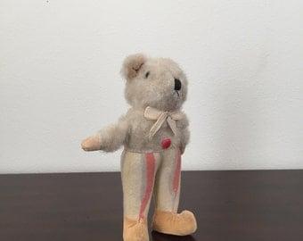 Antique Stuffed Animal - Japanese Mohair Vintage Teddy Bear - 1940's - 1950's
