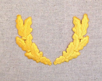 Yellow Pair Scrambled Eggs Military Uniform Iron on Applique 693230A