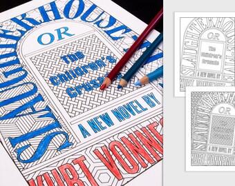 Kurt Vonnegut Coloring Page: Slaughterhouse-Five