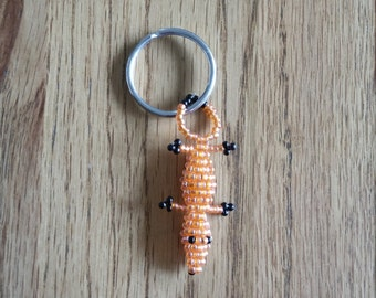 Crocodile Beads Key Ring / Crocodile en Perles Porte Clé