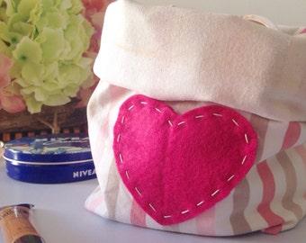 Fabric Basket, Fabric Bin, Storage Basket, Fabric Organizer, Home Organizer, Fabric Storage Bin, Nursery Storage,Valentine's day gift