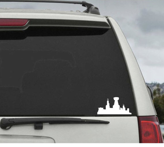 Blackhawks Chicago Stanley Cup Skyline Hockey Heart Decal Car Window Decal Sticker