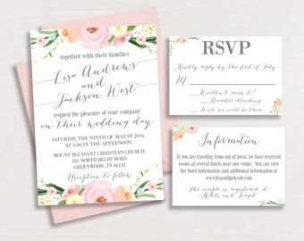 Floral Wedding Invitation - (3)