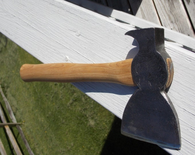 Vintage Hatchet unmarked with new 13 inch handle of American Hickory weighs 2lb