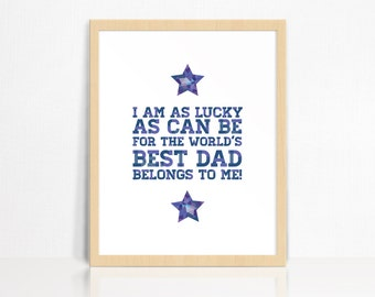 World's Best Dad Wall Print | Father's Day Gift