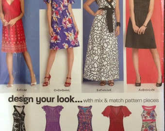 New Look 6864 - Mix and Match Dress Pattern - Many Looks - Size 8 10 12 14 16 18