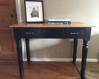 SOLD - Antique Black Writing Desk / Entryway Table / Sofa Table / Vanity