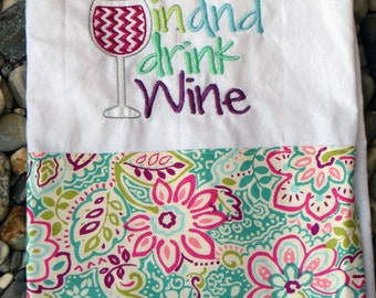 Namaste in and drink Wine Towel