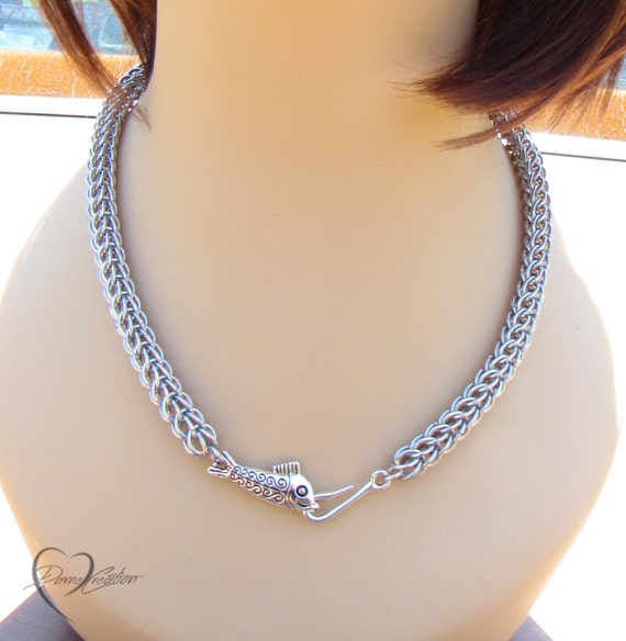 Fish Necklace Women Gift Ideas Fish Hook Necklace Mens