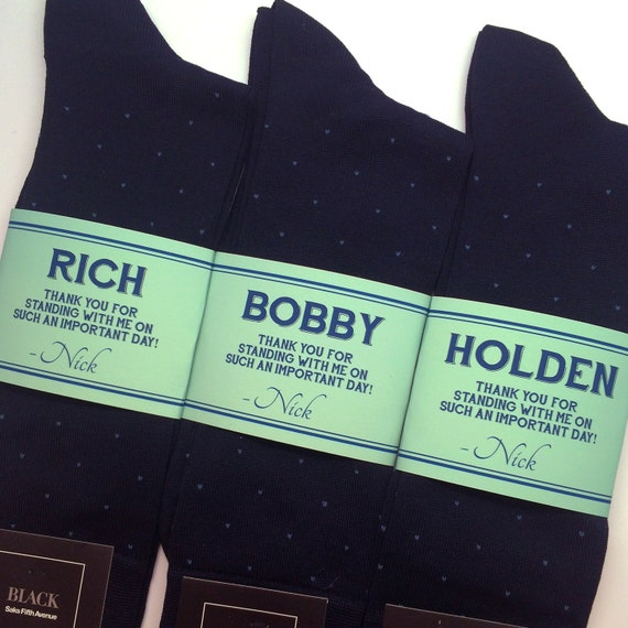 Personalized Wedding Gifts For Groomsmen: Socks Personalized Groomsmen Gifts Wedding // Unique Groomsman