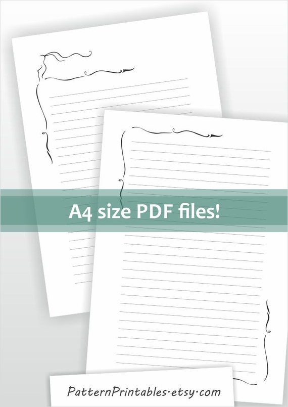 Download for A4 size lined letter writing paper Printable pdf – Lined Letter Paper