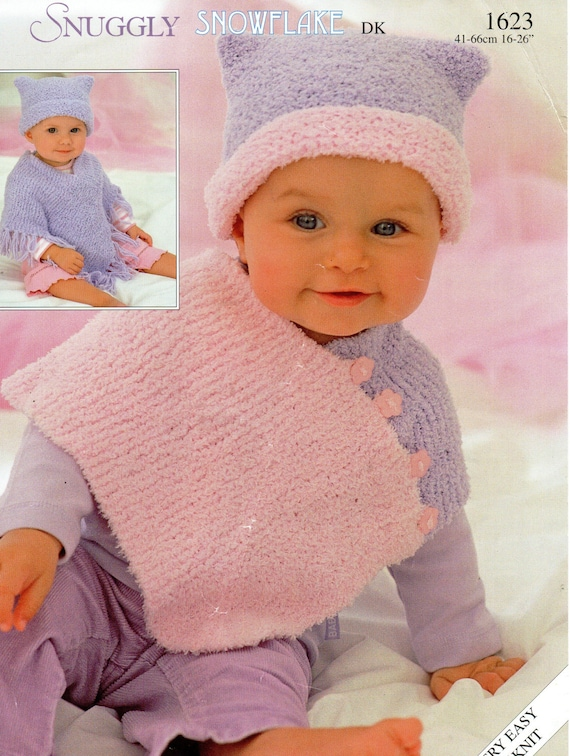 Poncho Knitting Patterns For Babies