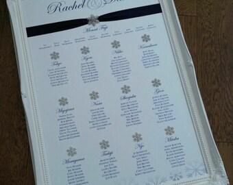 Ornate White Framed | Snowflake | Christmas | Wedding Table/Seating Plan