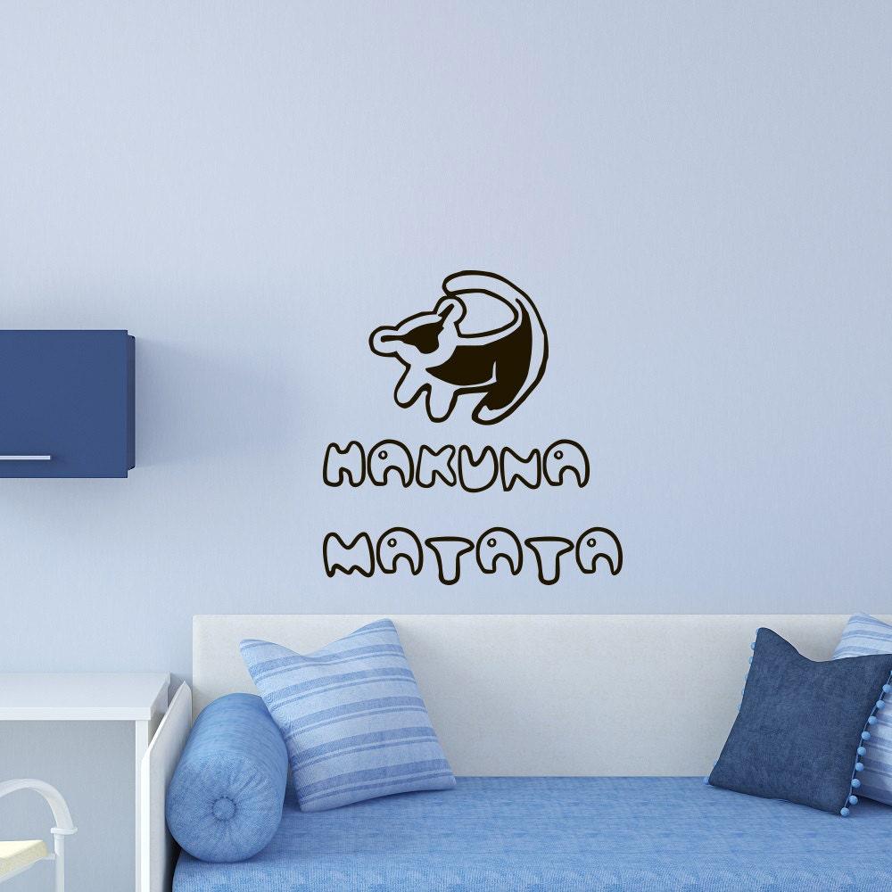 Wall Decals Quote Hakuna Matata Lion King Vinyl Stickers Wall - Lion king nursery wall decals