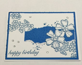 Shabby Chic Birthday Card with Bling Card Set