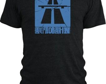 Big Texas Autobahn (Cyan)  Vintage Tri-Blend T-Shirt