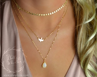 Gold Choker necklace, boho choker, choker necklace, gemstone necklace, layering necklace, gold necklace, delicate necklace