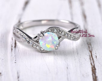 wedding ring women opal wedding ring lab created white opal engagement ring ring - Opal Wedding Ring