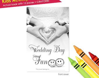SALE: 10 Wedding Activity Book PLUS Crayons! Childrens Kids Wedding Coloring Book- Wedding Kids Activity Book- Kids Wedding Coloring Book