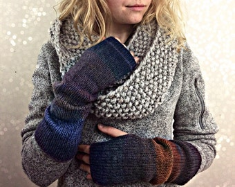 Boho Chic Fingerless Gloves, Arm Warmers, Women's Accessories, Ballet dance warmers, texting gloves, Boho Fashion Accessories