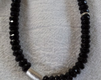 Faceted Onyx necklace