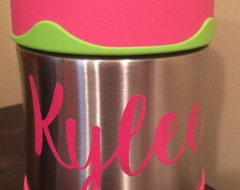 Food Jar Thermos Decal - Back to School Name Decal - Personalized Thermos - Foogo Food Jar - Food Jar Sticker - Name Sticker - FREE SHIPPING