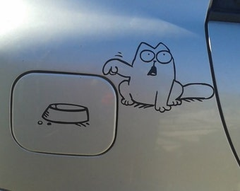 Cat car vinyl decal sticker