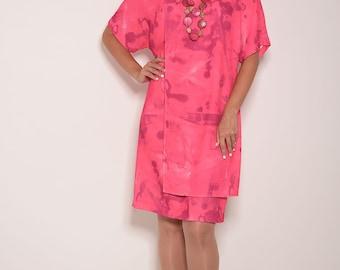 Pink wrap dress - Etsy