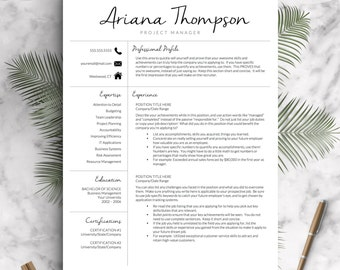 Creative Resume Template For Word And Pages | Modern 1 3 Page Resume  Template,  3 Page Resume