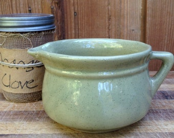 Monmouth Pottery Creamer Pottery Pitcher Green Pottery Pitcher Maple Leaf Pottery Creamer