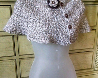 Crochet Poncho, Capelet, Wedding Capelet, Mini Poncho