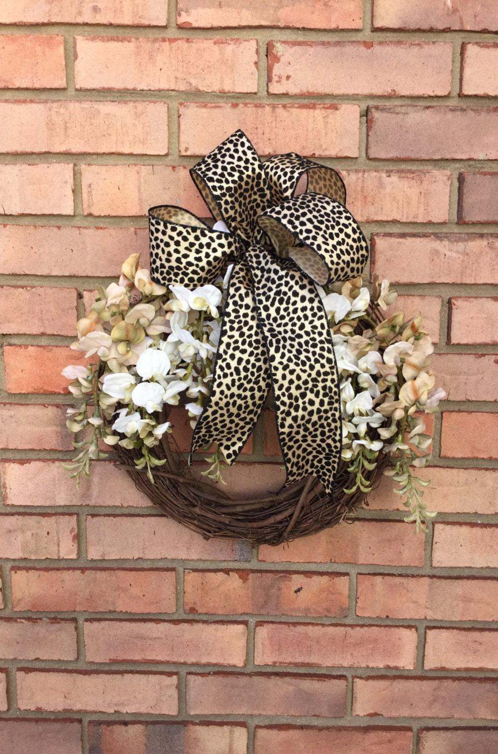 Modern Wreath Outdoor Front Door Decor Year Round Wreath
