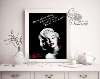 Marilyn Monroe art, Marilyn Monroe wall decal, Marilyn Monroe Poster, Printable, Marilyn Monroe Decor, Digital, Marilyn Print, Gift for him